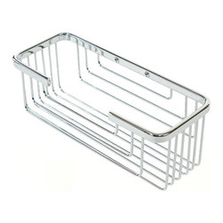 Gedy - Chrome Wall Mounted Shower Caddy - Designed with elegance in Italy, this chrome shower caddy means you can enjoy stylish accents, even while in your own little corner of the world. This polished basket affixes easily to your wall with the included screws, and will look so chic and organized in your contemporary bathroom.