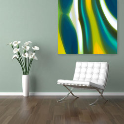 Fury stream Art Prints in Furnished Room -