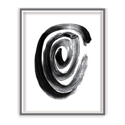 Black And White Lima Modern Fine Art Print - BLACK AND WHITE LIMA contemporary modern fine art print for home, office or business wall decor part of a set