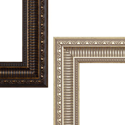 MirrorMate Frame in Providence - One of over 60 styles available at mirrormate.com to frame bare, bathroom mirrors while still on the wall.