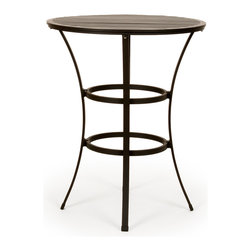 Caluco - San Michelle Round Bar Table - The San Michelle Round Bar Table combines style, durability, and comfort to provide unmatched value in outdoor seating.  Pictured in the charcoal grey aluminum.