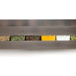 Aperture Spice Rack & Jars by Desu Design - Transform your spices into a work of art with this contemporary stainless steel spice rack. The rack provides the lines, your spices provide the color.