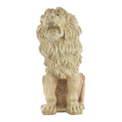 Casa de Arti - Roaring Lion Large Growling Statue Animal Statuary Figure - Beautiful sculpture of a roaring lion, perfect for your home or garden decor at an incredible price!