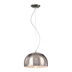 George Kovacs - George Kovacs P861-084 Brushed Nickel 1 Light Pendant - - Brushed Nickel Metal Shade