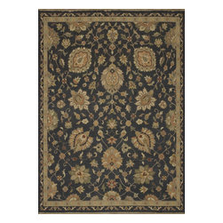 """Loloi Rugs - Hand Knotted Laurent Transitional Rug LRNTLE-01CC00 - 2'-0"""" x 3'-0"""" - Hand-knotted of 100% wool from India, the Laurent Collection features a series of soumak rugs that add a touch of casual elegance to traditional and transitional rooms alike. Available in a series of hand-dyed earthy colors."""