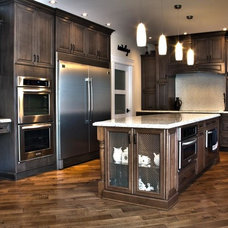 Traditional Kitchen Cabinetry by Kitchen Craft Edmonton