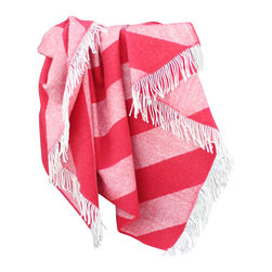 """Happy Blanket - 100% Merino Wool Throw Blanket Red 51"""" x 67"""" - Wool is a natural temperature regulator, naturally hypoallergenic, naturally breathable and even improves sleep quality."""