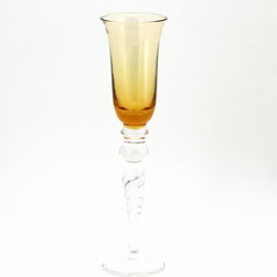 Artistica - Hand Made in Italy - HORTENSE: Champagne Flute BRONZE - HORTENSE Stemware Collection
