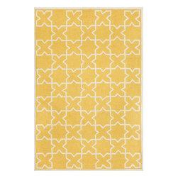"""Trans Ocean Rugs - Trans Ocean Capri 1606/09 Moroccan Tile Yellow 24"""" x 8' Area Rugs - Trans Ocean Capri 1606/09 Moroccan Tile Yellow 24"""" x 8' Area Rugs"""