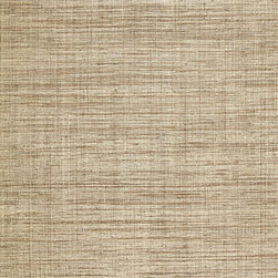 Weston Raffia Weave Wallpaper, Grey - This textured raffia weave in gray creates a subtle plaid pattern. I would select it for a bedroom, home office or dining room.