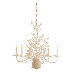 Seaward Faux Coral Chandelier - This faux coral chandelier might just break the bank at $1,195, but it's so chic you might just have to write it off as an investment piece.