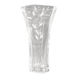 Dale Tiffany - Dale Tiffany GA80037 Crystal Leaf Contemporary Vase - Crystal Leaf VS