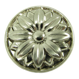 Stone Mill - Stone Mill Hardware Mayflower Satin Nickel Cabinet Knobs (Case of 25) - Update your cabinets with this high-quality Stone Mill hardware. Available in a case of 25,the cabinet knobs feature an engraved flower design and a satin nickel finish.