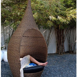 Neoteric Genie Modern Outdoor Wicker Patio Chair - Now you can have your own genie in a bottle moment. This chair makes a great centerpiece for your outdoor space.