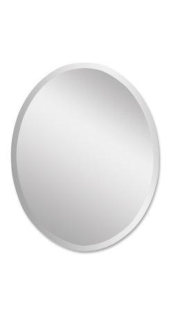 Frameless Beveled Oval Vanity Mirror Medium - *Polished edges for a smooth finish.