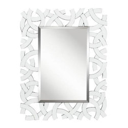 Kichler - Kichler 78207 Zeeba Modern Wall Mounted Mirror in White 78207 - Zeeba modern wall mounted mirror in white.Bulbs Included: No Collection: Zeeba Country of Origin: China Energy Efficient: No Extends: 1 Finish: White Height: 44 Mirror Shape: Rectangular Style: Transitional Weight: 33.2 Width: 34