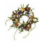 """Oddity - Oddity 2"""" Everyday Design Mum Candle Ring Pack 4 - Brilliantly selected faux flowers, leaves and ropes style this collection that will give new meaning to everyday and will not only coordinate with any decor, it will """"fit into"""" any seasonal style."""