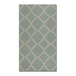 Uttermost - Uttermost Bermuda 9 x 12 Rug - Baby Blue - 71016-9 - -Uttermost's woven rugs combine premium quality materials, unique high-style design.