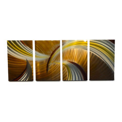 Miles Shay - Metal Art Wall Art Decor Abstract Contemporary Modern Sculpture- Tempest Browns - This Abstract Metal Wall Art & Sculpture captures the interplay of the highlights and shadows and creates a new three dimensional sense of movement as your view it from different angles.
