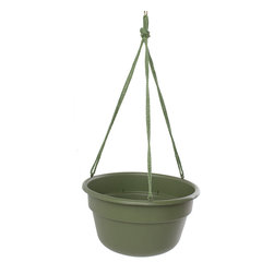 Bloem Living - Living Green Dura Cotta Hanging Basket - Inspired by classic clay planters, this bowl is made from durable and recyclable polypropylene to offer a traditional look without the heavy weight or risk of breaking.   Polypropylene Made in the USA