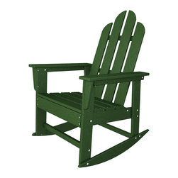 Long Island Adirondack Rocker All Weather Outdoor Recycled Plastic Furniture - An Adirondack chair and a rocker, what else could you need?