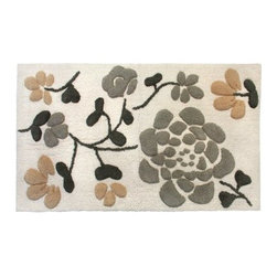 Park B. Smith Ultra Spa Asian Garden Bath Rug - For an ultra soft feel under foot, choose the natural cotton Park B. Smith Ultra Spa Asian Garden Bath Rug. A stunning look and sumptuous feel for any bathroom decor, this rug features a non-skid back for safety and is made of machine-washable cotton.