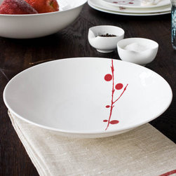 Bodo Sperlein - Red Berry Pasta/Soup Plate - Bodo Sperlein - These contemporary but classic designs are internationally renowned for their unique modern style. Made of the finest porcelain and finished in the Red Berry pattern, these hand painted pieces will make any home or table look elegant and fresh.