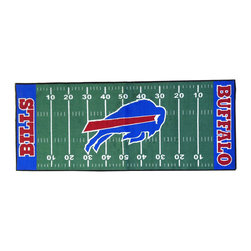 Fanmats - NFL Buffalo Bills Football Field Runner Area Rug/Carpet - Features: