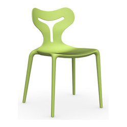 Calligaris - Area 51 Chair, Light Green - Space age seating that's out of this world, now available for your favorite setting. This witty, shapely chair is made in Italy for comfort and style with a whimsical touch.