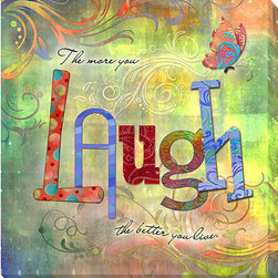 None - Connie Haley 'Laugh' Canvas Giclee Art - Artist: Connie HaleyTitle: LaughProduct type: Gallery-wrapped giclee