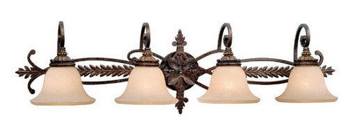 "Vaxcel Lighting - Vaxcel Lighting DY-VLD004 Four Light Down Lighting 39.75"" Wide Bathroom Fixture - DY-VLD004 Four Light Bathroom Fixture from the Dynasty CollectionFeatures:"