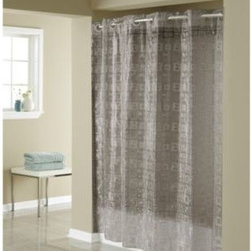 Hookless - Hookless 3D Smoke Puzzle 71-Inch W x 74-Inch L Shower Curtain - This innovative shower curtain offers no hassles, thanks to the patented Flex-On rings that eliminate the need to buy shower curtain rings and dealing with them falling off the curtain. It allows you to hang the curtain in less than 10 seconds.