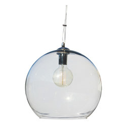 Lightupmyhome - Glass Globe Pendant Chandelier - A clear orb hangs in a beautifully modern way with this gorgeous pendant chandelier. The Divina offers up a sleek, minimal appearance that will add a sense of refinement to any space.