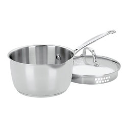 Cuisinart - Cuisinart Chef's Classic Stainless Steel 2-Quart Cook and Pour Saucepan - Don't you hate it when you pour liquid out of the saucepan and most of it dribbles down the side? Along with having professional performance at all levels, this pan has a pour spout and draining lip to ensure drip-free pouring. Now if they could just figure out how to keep the kids from spilling.