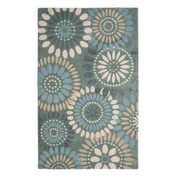 Safavieh Country Amp Floral Jardin 5 X8 Rectangle Grey