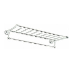 """Columnar 20"""" Hotel Shelf with Bar - Houzz contributor Debbie Snider adds, """"This rack is suitable for all traditional or contemporary baths. I like that this rack comes in two sizes and styles — 20"""" or 24"""" and with or without a towel bar."""""""