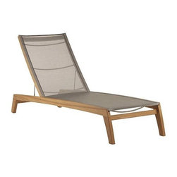 Frontgate - Horizon Outdoor Teak and Sling Outdoor Chaise Lounge, Patio Furniture - Made almost entirely by hand and to the highest standards. Adjusts to 5 positions. Teak is sourced from an environmentally sound plantation on the island of Java. Sling will not stretch or fade, even after thousands of hours in the sun. Maker of highly esteemed, award-winning outdoor furnishings for nearly a century, Barlow Tyrie has designed the masterful Horizon Teak and Sling Chaise Lounge. Crafted of Grade-A teak with doweled mortise and tenon joinery, an all-weather Textilene sling, nylon back supports, and marine-grade fittings, this extra-long chaise is designed for seasons of lounging.. . . .