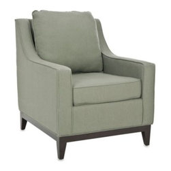 Safavieh - Safavieh Colton Club Chair in Grey Linen - This plush club chair is an ideal place to sit and relax with a generously stuffed seat cushion and a a fluffy back cushion. Upholstered in 100% linen.