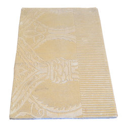 1800-Get-A-Rug - Modern Nepali Beige Hand Knotted Rug Wool and Silk Sample Sh7401 - About Modern & Contemporary