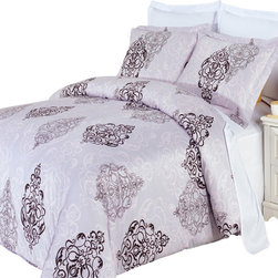 Royal Tradition - RT Gizelle 3-Pieces100% Egyptian Cotton Comforter Duvet Cover - Enjoy the comfort and Softness of 100% Egyptian cotton bedding with 300 Thread count fiber reactive prints.*100% Egyptian cotton *300 Thread count *Reactive Print, lasts longer and looks like real live pictures.