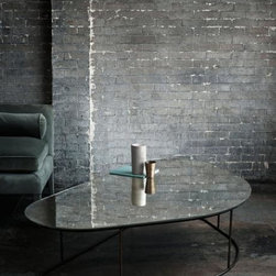 Pebble Table - This table has a mercury glass top