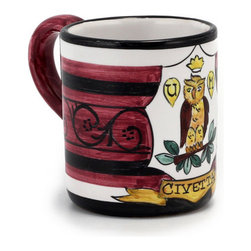Artistica - Hand Made in Italy - PALIO DI SIENA: Civetta mug - PALIO DI SIENA Collection: The Palio di Siena is a tournament as a replica of a medieval horse race which is ran twice year, during the summer season, in the city of Siena, located in the beautiful Tuscany region.