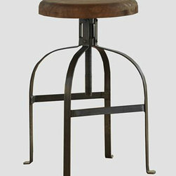 Twist Swivel Stool - This old-world style barstool is not only affordable, but fun with the exaggerated curved legs. I could see this pairing well with Edison light bulbs.