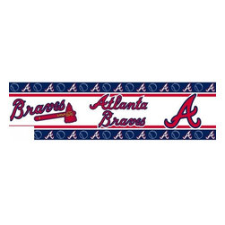 Sports Coverage - MLB Atlanta Braves Self Stick Wall Border - It's so quick and amazing, just peel and stick! Self-stick, removable, and reusable MLB Atlanta Braves Wall Borders are the easy way to decorate and won't damage walls! Peel and Stick technology will adhere to any smooth surface. Washable and dry strippable. Colorful graphics are printed on durable, tear-resistant vinyl wall border in the repeating pattern shown. Size: 5 x 15' long per package. It's so quick and amazing, just peel and stick! Installation has never been so easy!