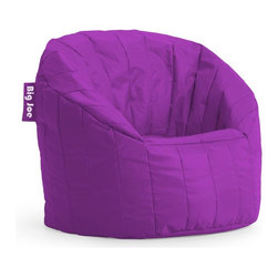 Comfort Research - Bean Bag Chair in Fuchsia - Durable design. Ultimate comfort. Filled with UltimaX bean. Double-stitched and double-locking zippers. Back and arm rests provide soft but firm support. Stain and water resistant. Warranty: 30 days. Made from SmartMax fabric and polystyrene bean. No assembly required. 32 in. L x 28 in. W x 25 in. H (7 lbs.)The Big Joe Lumin Chair envelopes you in ultimate comfort. This chair is great for any room in the house.