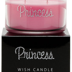 Primal Elements - Princess Wish Candle - Princess is a lavish fragrance with jasmine hyacinth and sweet citrus. 9.5-ounce 2-wick Wish Candles have an approximate burn time of 35-40 hours. Make a wish for yourself or share one with a friend. Our beautifully hand jeweled Wish Candles fill your space with a sparkling expression and a warm glow. Featuring our original fragrances and a unique vegetable wax blend, each Wish Candle will provide approximately 35-40 hours of twinkling burn time.