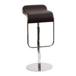 East End Imports - Lem Bar Stool In Leather - The LEM Style Bar Stool has sleek lines that would be equally impressive in a restaurant or at home. Our premium version has a high quality Italian leather seat. Perfect for entertaining guests at restaurants, your home bar, or for stylish seating around the kitchen counter.