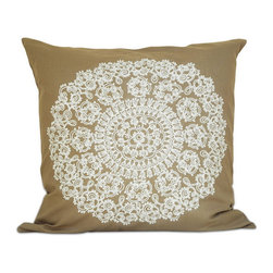 None - Lacey 20-inch Down Throw Pillow - This down throw pillow will be the perfect accessory to add that finishing touch to your decor. The zipper removable cover is 100-percent for softness and durability.