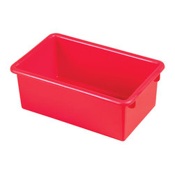Ecr4kids - Ecr4Kids Heavy Duty Plastic Stack And Store Tub With No Lid Red, 15 Pack - Sold in cases of 15 (same color),Ages 2,Safety tested - conforms to ASTM F963-07,QSG - Quality Satisfaction Guaranteed. Note This item is a Tote Bin Only. Tote Bin with Matching Lid available on item  ELR-0102-XX. Accessories not included.