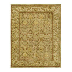 """Safavieh - Persian Legend Green/Brown Area Rug PL819G - 2'6"""" x 4' - Inspired by the legendary designs of Persia's most prestigious rug-weaving capitals, these extraordinary reproductions recreate some of the most prized antiques in Safavieh's archival collection. Intricate Tabriz, Lavar Kerman and Isfahan hand-knotted motifs are remarkably adapted to these hand-tufted rugs of incomparable quality. The finest New Zealand wool is chosen to achieve the intricate weave of these carpets. With utmost attention to every detail, Safavieh creates its Persian Legends Collection in India to provide consumers an exquisite yet affordable artisan-crafted look."""